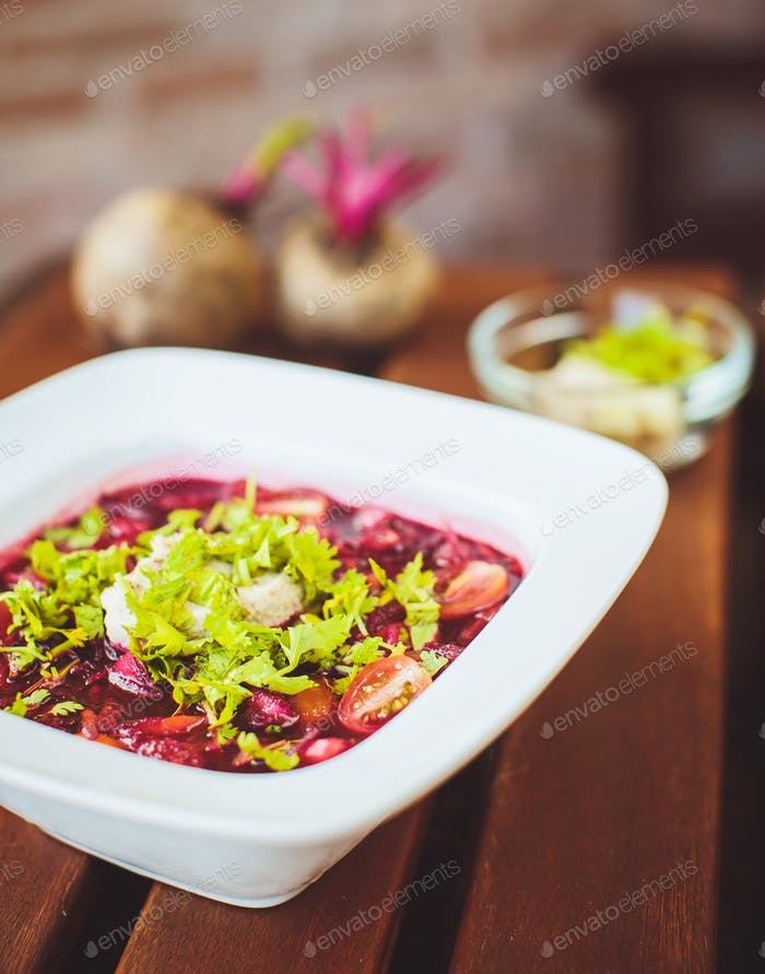 Raw red soup