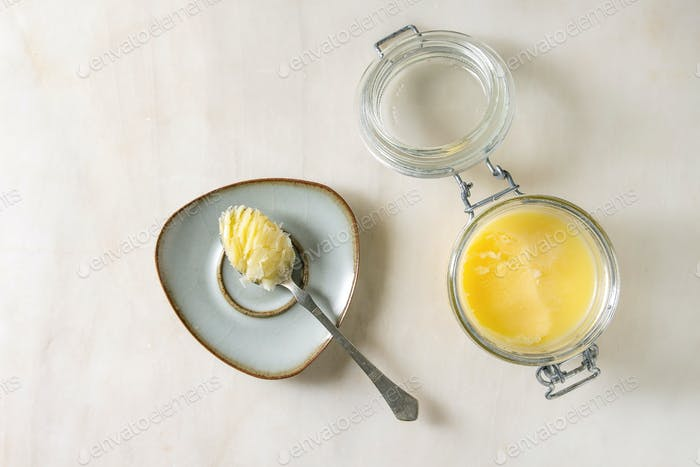 Geschmolzene Ghee Butter