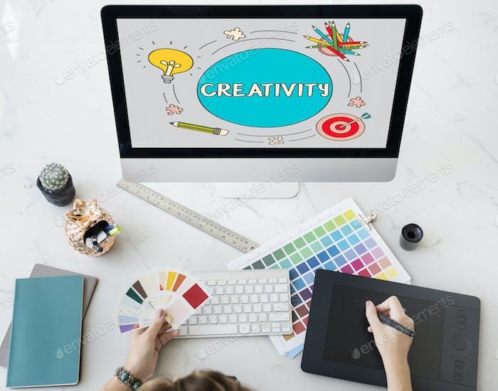 Freash Ideas Inspire Design Creative Concept