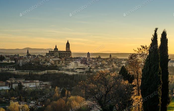 Sunset in Segovia