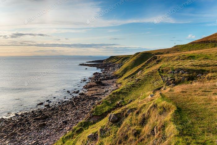Grassy cliffs at Stoer Head