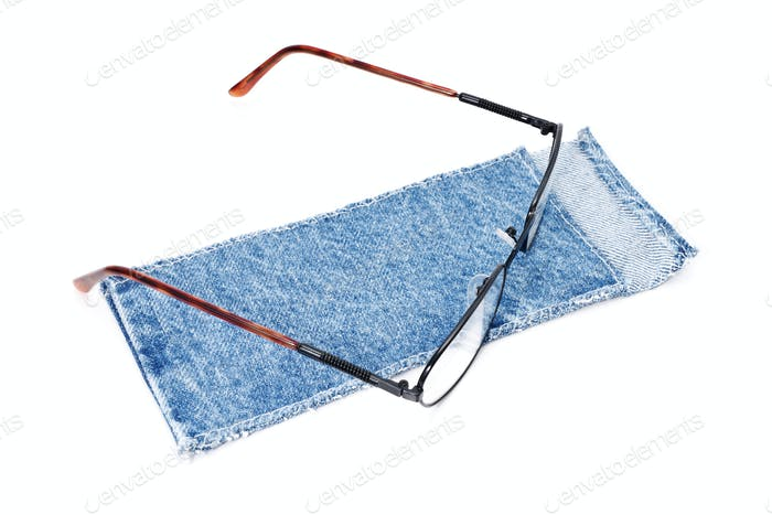 glasses and cloth case