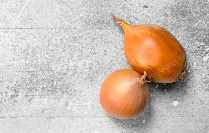 Yellow fragrant onions.
