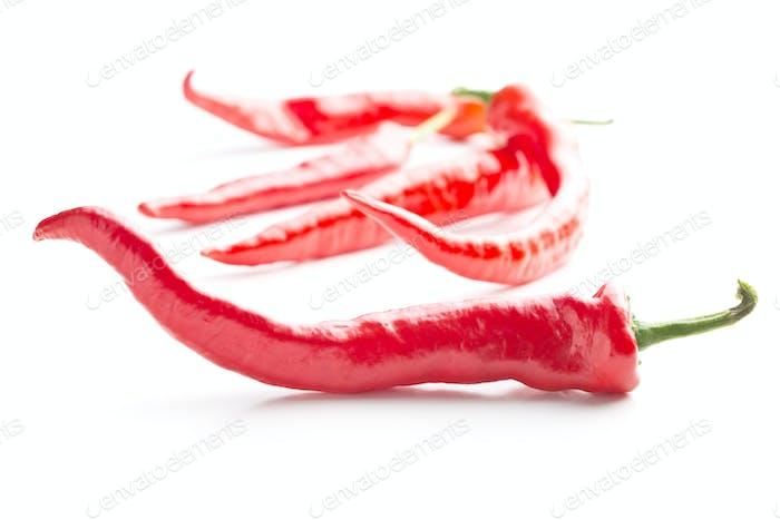 Rote Chilischoten.