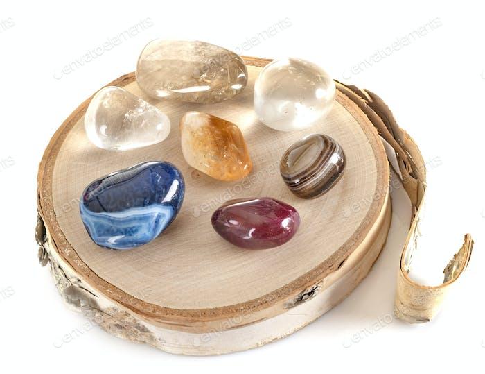 crystals in studio