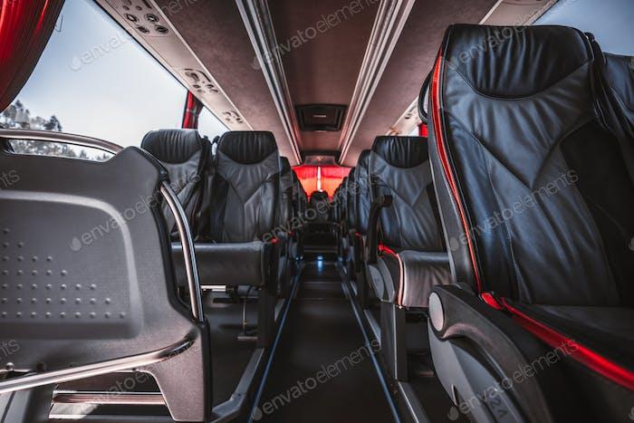 Интерьер регулярного междугородного автобуса