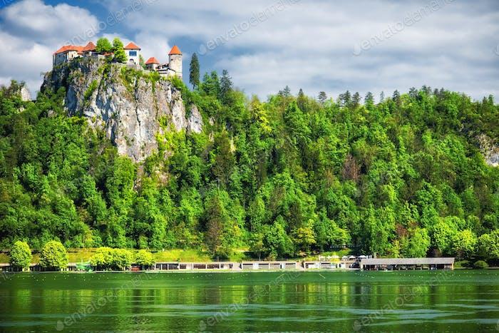Mittelalterliche Burg, Bled See