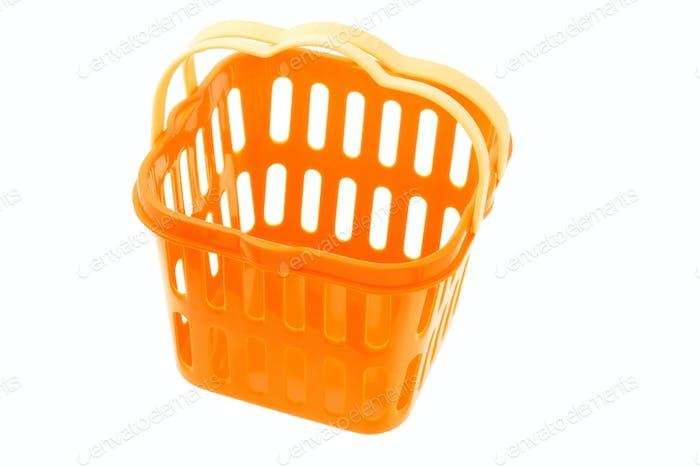 Orange plastic basket