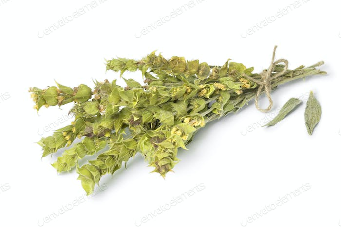 Bunch of dried green ironwort