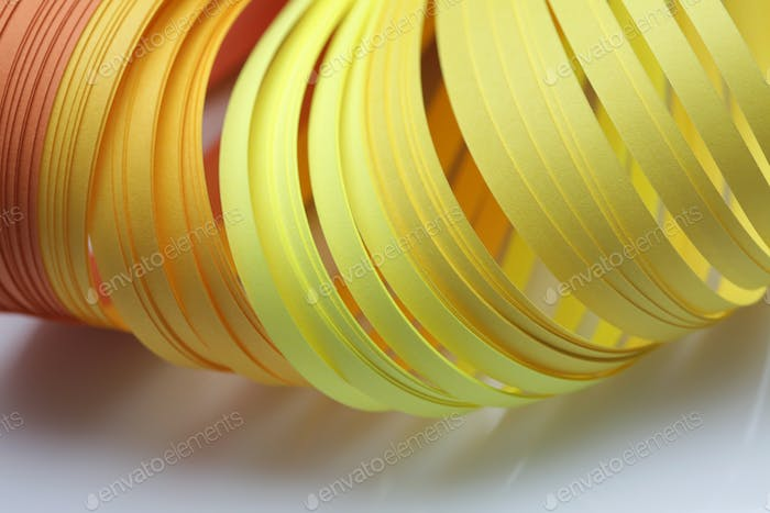 Abstract color wave strip paper background. Soft focus.
