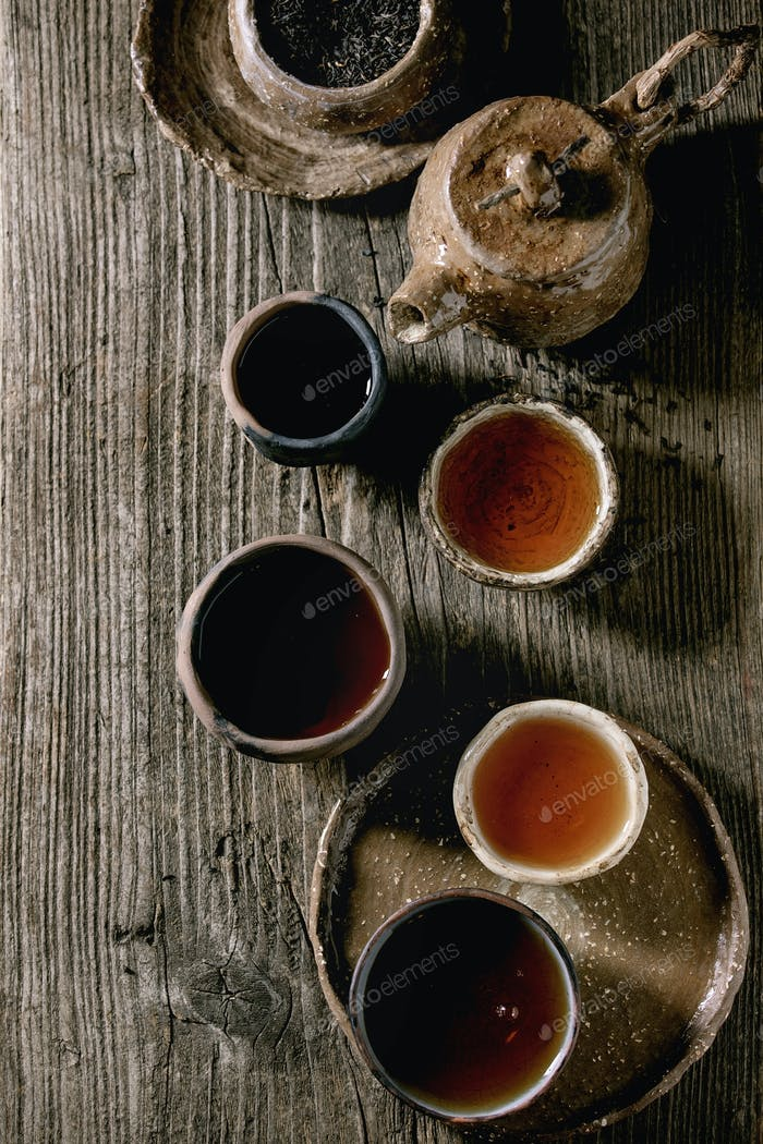 Heißer schwarzer Tee
