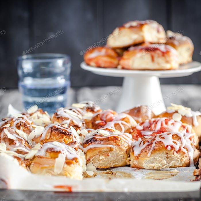 Homemade sweet buns - better than from bakery