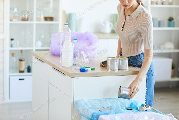 Abfallsortierung zu Hause