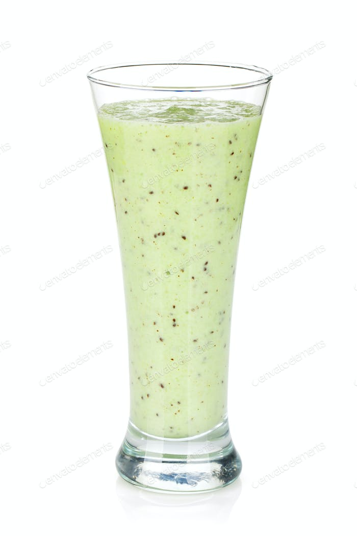 Kiwi milk smoothie