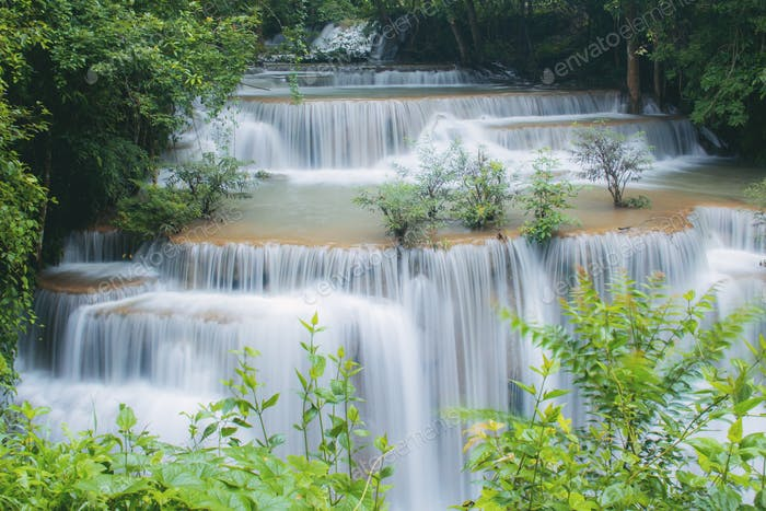 Waterfall in spring of Thailand