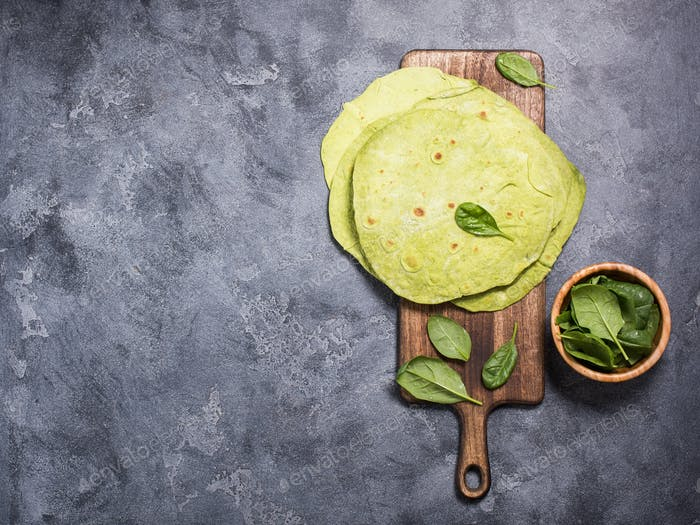 Green Tortillas With Spinach
