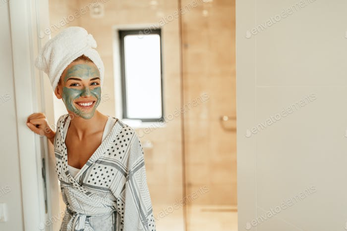 Trying out a new face mask