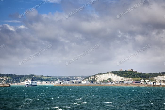 48941,White Cliffs of Dover and Port Entrance, England