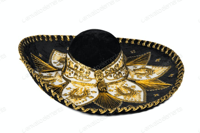 Schwarzer Sombrero isoliert
