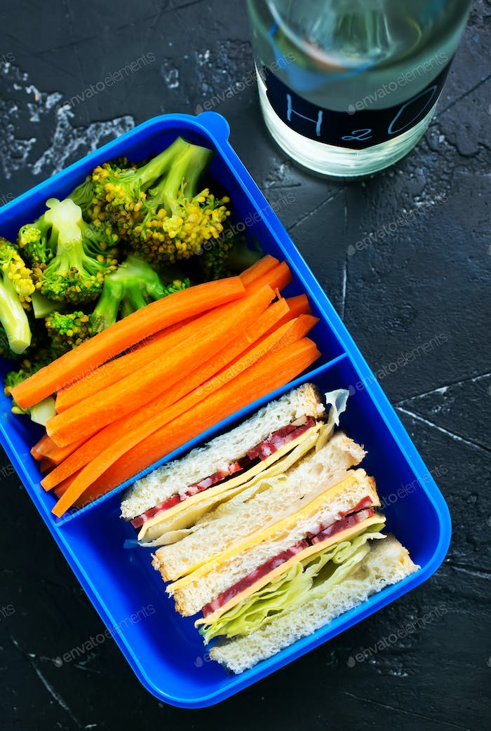 food in lunch box