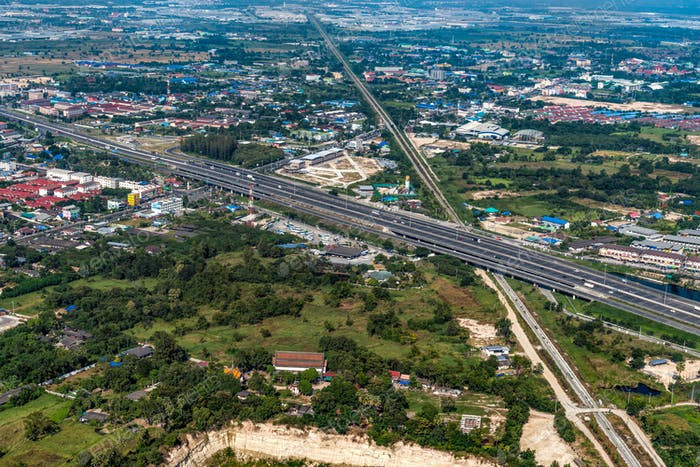 Aerial Photo Land Development and Residential Area