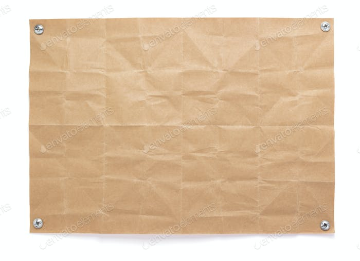 sheet of paper with empty pages  at white background