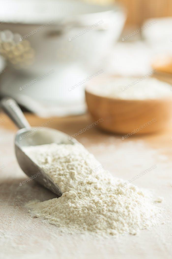 The wheat flour.