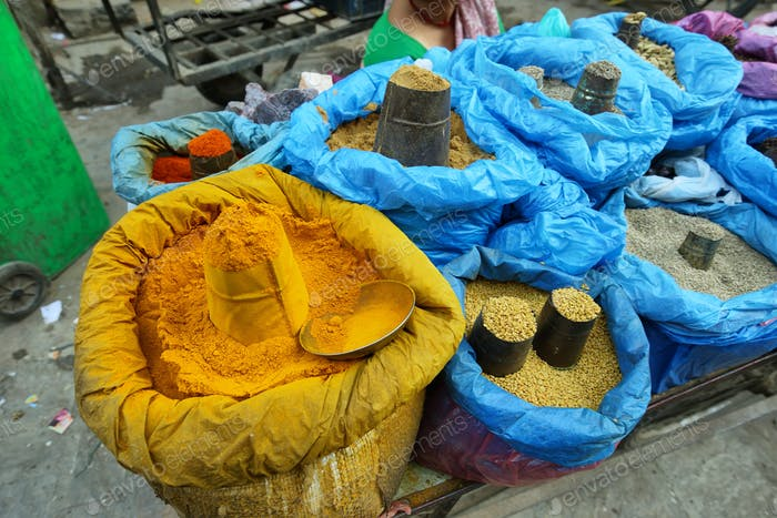 Spices in a market, Kathmandu, Nepal