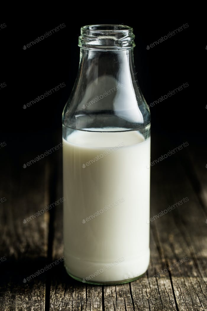 Bottle of milk.