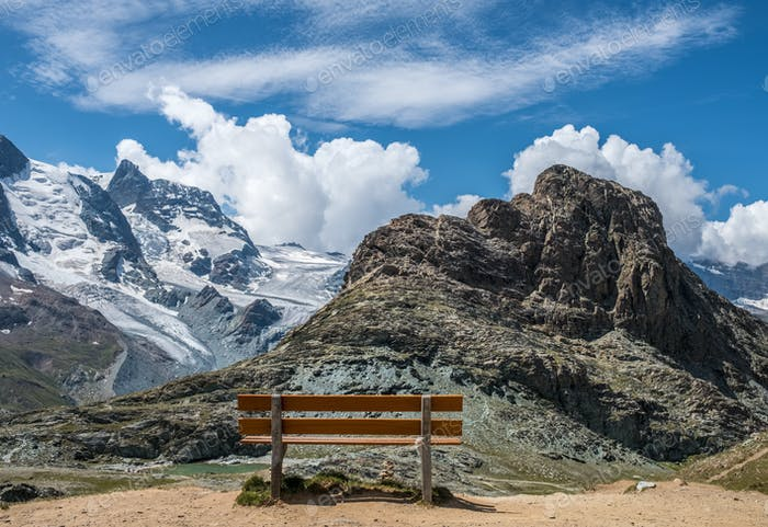 Bench at a mountains