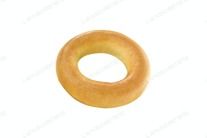 Fresh Bagel Isolated on a White