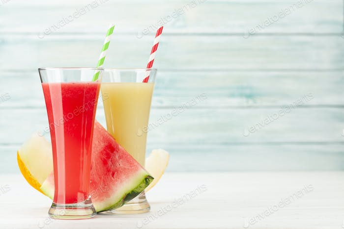 Watermelon and melon smoothie
