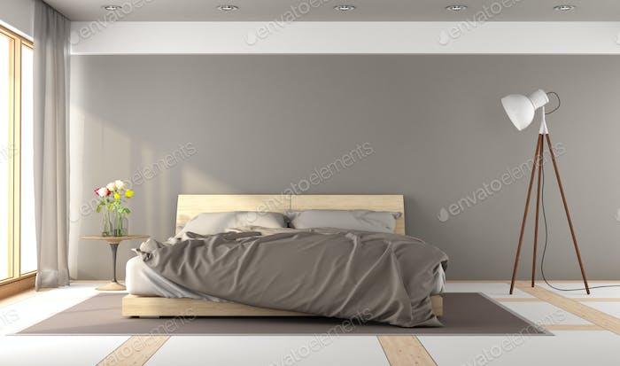 Brown master bedroom