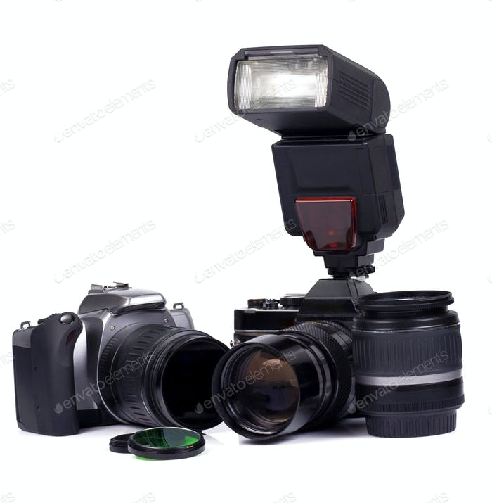 digital and film camera