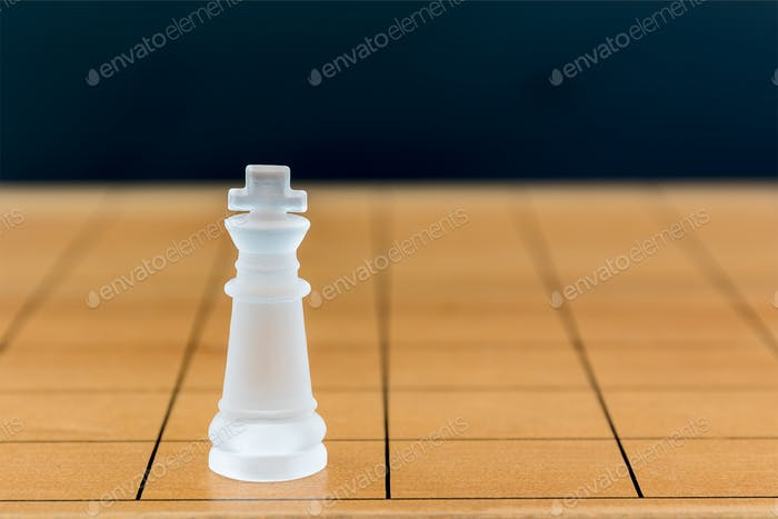 Chess glass on a wood chessboard_-29