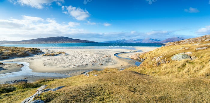 The beautiful sandy beaches at Luskentyre