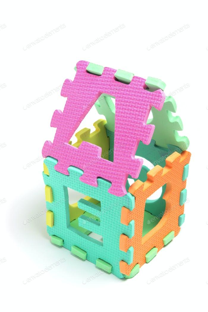 Alphabet Puzzle Cube
