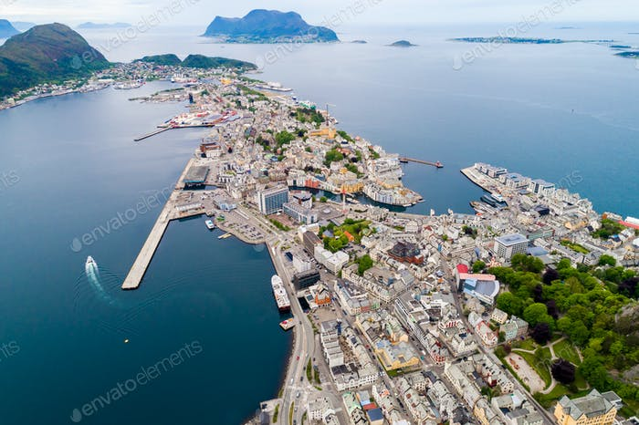 Aksla at the city of Alesund , Norway