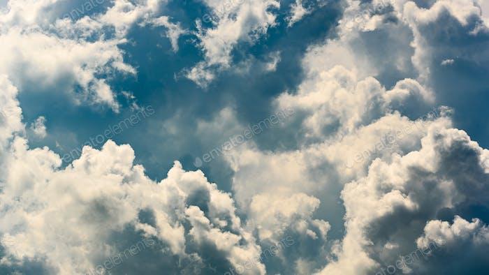 Cumulus cloud closeup