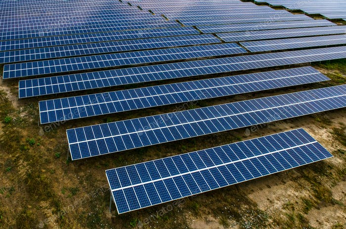 Solar panels, solar farms in Asia