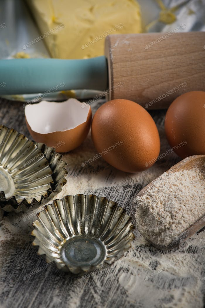 Preparation for baking at home