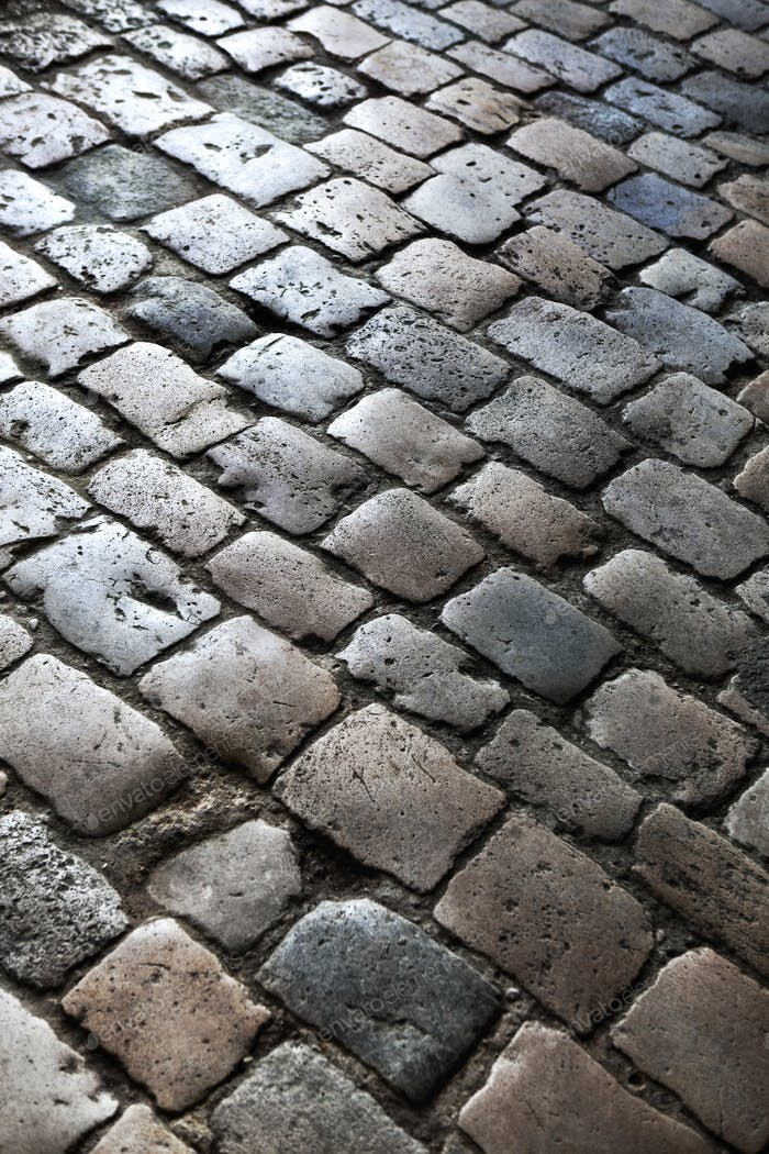 Background of cobblestones