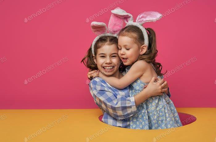 children on Easter day