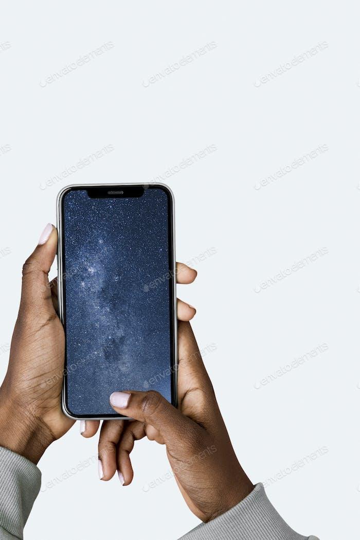 Pantalla de teléfono en blanco