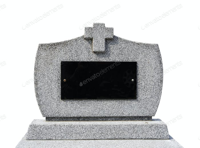 Blank gravestone Iisolated ( clipping path )