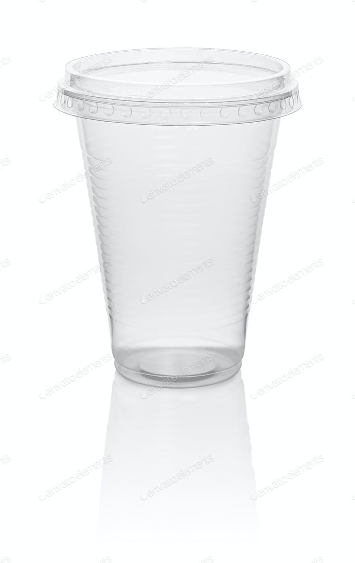 Kunststoff transparente Einwegbecher