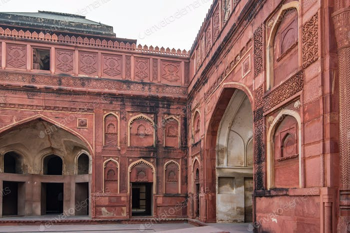 Red Fort situated in Agra, India