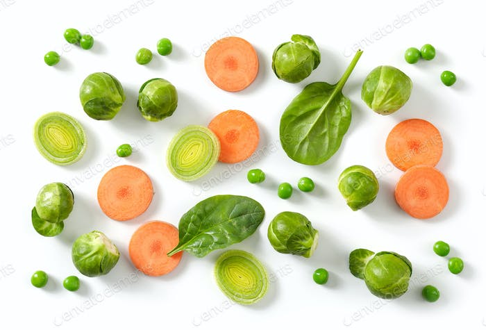 composition of fresh raw vegetables
