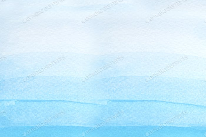 Watercolor textured blue background