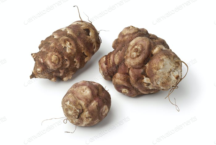 Fresh picked Jerusalem artichokes